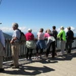 Active seniors at an overlook in New Hampshire