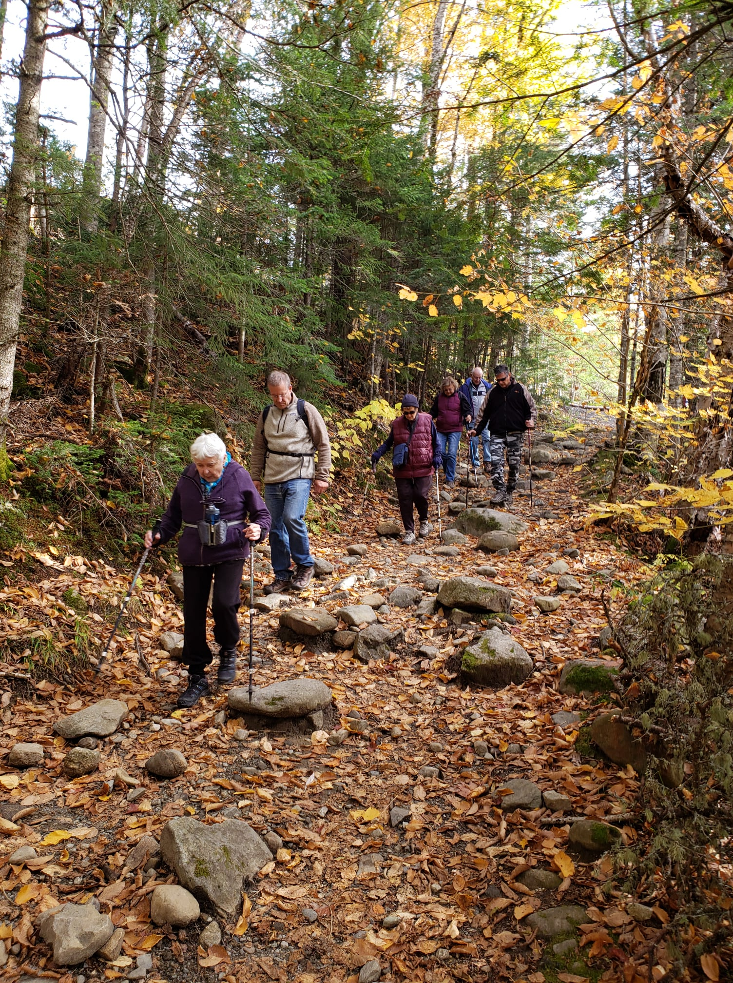 residents hiking in concord